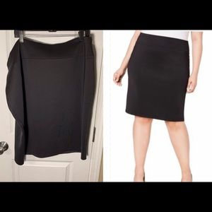 NEW INC black scuba skirt (3X/4X)